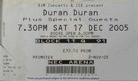 NEC Arena Birmingham wikipedia duran duran ticket stub com
