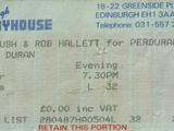 1987 - 28 April: Edinburgh (UK)