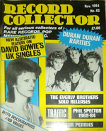 Record collector november 1984 duran duran