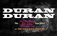The chicago theatre duran duran show 2011 poster banner