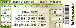 Duran madison square ticket a