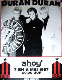 Poster duran duran ahoy 1987
