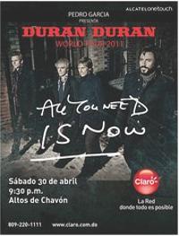 22 Altos de Chavon at Casa de Campo, La Romana (Dominican Republic duran duran concert poster
