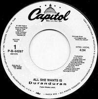 34 all she wants is us usa P-B-44287 single song duran duran discography discogs wikipedia 2
