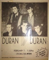 The Forum, Los Angeles, CA, USA wikipedia duran duran collection archive poster