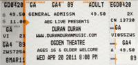 Buy duran duran tickets ogden theatre