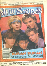 New sounds magazine duran duran august 1984