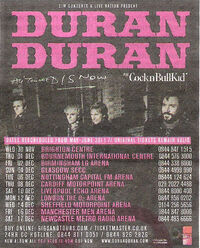 Duran duran latest tour dates CocknBullKid discogs discography wiki