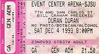 1993 12 04 duran ticket stub edited