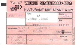 Duran duran wiener ticket 1987-05-12 ticket