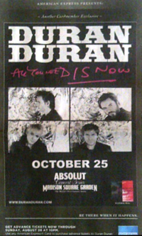 Madison square garden new york duran duran discography poster