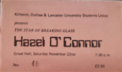 -Lancaster (England) Lancaster University wikipedia duran duran hazel o'connor ticket stub