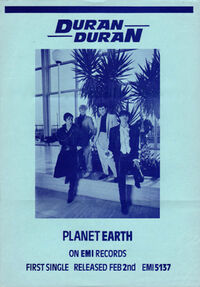 Planet earth song wikipedia flyer duran duran 1981