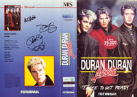 Three to get ready italy VHS · FUTURAMA-UNIVIDEO · ITALY · 12MUS1V video duran duran wikipedia