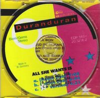 7 all she wants is single cd germany CDP 560-20 3236 2 duran duran discography discogs wikipedia 3