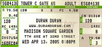 Duran madison square ticket a a