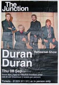 Poster the junction duran duran
