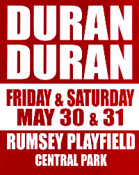 Poster duran duran central park new york