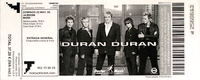 Ticket duran duran 22 may 2005 madrid spain