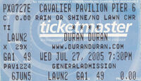 Pier Six Pavilion Baltimore MD USA wikipedia ticket stub duran duran discography collection