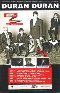 Summer tour 2009 duran duran poster duranduran.com music wikipedia