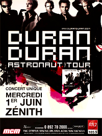 Poster duran duran le zenith 2005