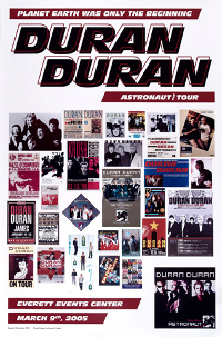 Poster duran duran everett event center march 9 2005