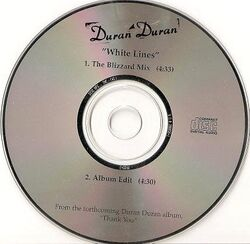 139 white lines song single promo cd usa Capitol Records – PRCD-2 duran duran vinyl discography discogs wikipedia