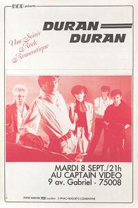Poster duran duran paris 1981 captain video discogs wikipedia
