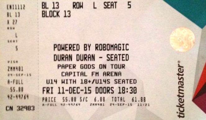 Capital FM Arena Nottingham wikipedia duran duran discogs ticket stub.jpg  sc 1 st  Duran Duran Wiki - Fandom & Image - Capital FM Arena Nottingham wikipedia duran duran discogs ...