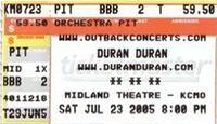 Q Midland Theatre, Kansas City, MO, USA wikipedia duran duran ticket stub