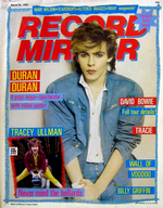 Record mirror magazine paper duran duran 1983 march 26