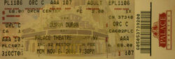 The Palace Theatre Albany New York NY USA wikipedia duran duran usa flag ticket stub discogs collection 1