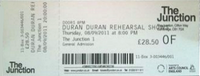 Ticket the junction duran duran cambridge discogs