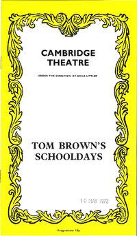 Cambridge theatre tom brown's schooldays simon le bon duran duran 1972
