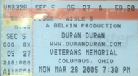 Veterans Memorial Auditorium, Columbus OH, USA. wikipedia duran duran