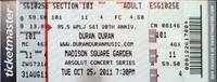 Ticket madison square garden new york ny 25 oct duran duran show