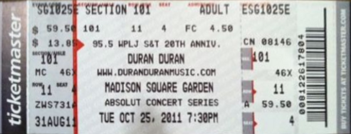 Image ticket madison square garden new york ny 25 oct duran duran duran duran wiki for Ticketmaster madison square garden