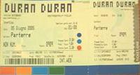 Ticket duran duran biglietto 5 june 2005