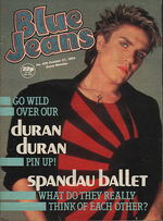 Blue Jeans Magazine 27 October 1984 No. 406 Simon Le Bon Duran Duran Spandau wikipedia