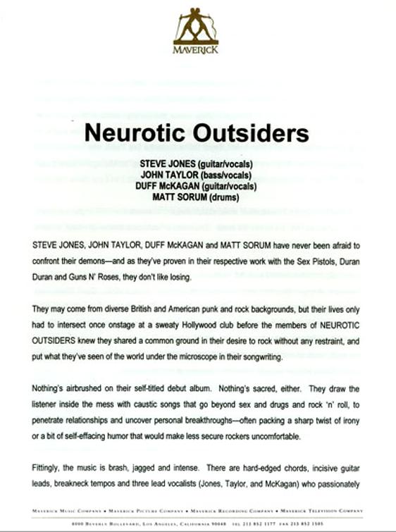 Image - Neurotic Outsiders US Press Pack duran duran duran.jpg ...