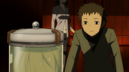 Seiji looking at Celty's head