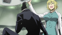 X2 EP01 Emilia examines Celty