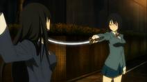 S1 E17 Anri threatens Haruna