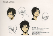 Izaya season 1 character sheet