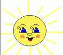 Ясне сонечко всміхнеться. Аплікація