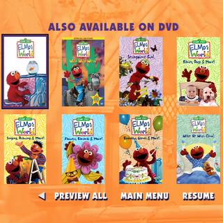 Elmo's World Sesame Street Home Video Trailers