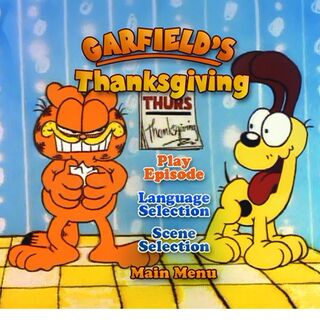 main menu garfields thanksgiving main menu