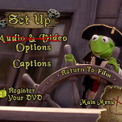 Audio and Captions preferences menu