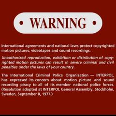 2nd FBI Warning Screen